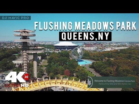 Flushing Meadows Corona Park -Cinematic- DJI Mavic Pro (4K)