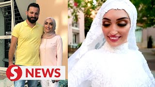 Beirut bride happy to be alive after blast cuts short wedding video
