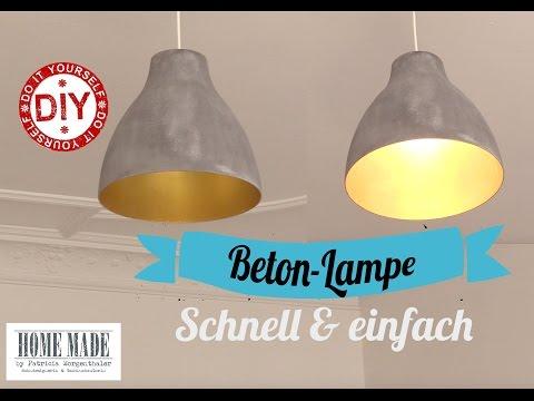 """How to: Schnelle """"Beton""""-Lampe I Deko Inspirationen selbstgemacht I ..."""