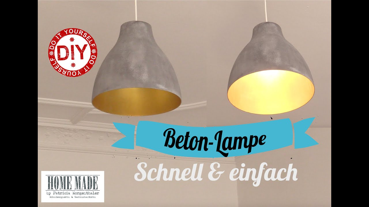 "How to: Schnelle ""Beton""-Lampe I Deko Inspirationen selbstgemacht I  Homemade by Patricia"