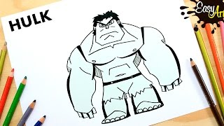 Dibujos Superheroes│Cómo dibujar Hulk│how to draw hulk Superhero