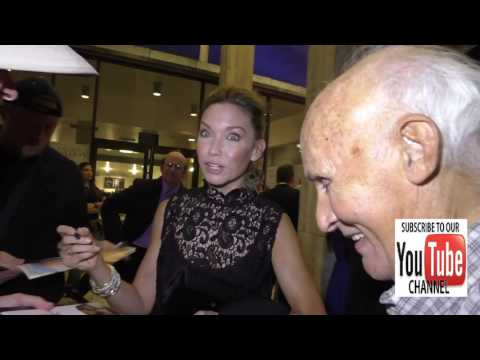 Kate Orsini talks about her movie A Week In London outside ArcLight Theatre in Hollywood
