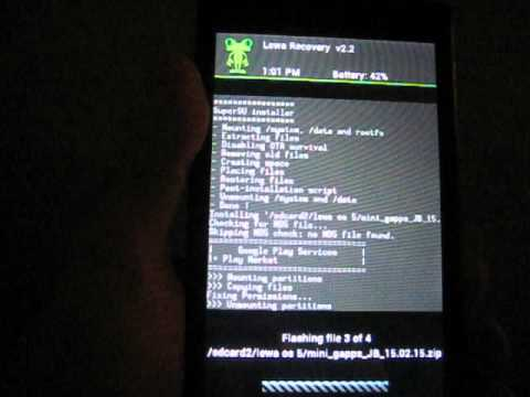 Установка прошивки Lewa OS  5 на Nokia XL android 4.1.2