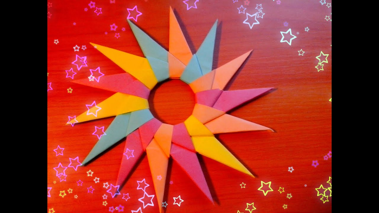 Diy star origami ornament origami star - Diy How To Make Christmas Star Paper Big Shuriken Origami For Children Christmas Craft Tutorial Youtube