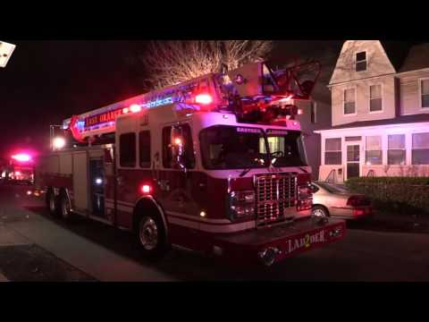 "East Orange NJ Fire Department Working Fire ""Signal 11"" 199 Amherst St 3-18-16"