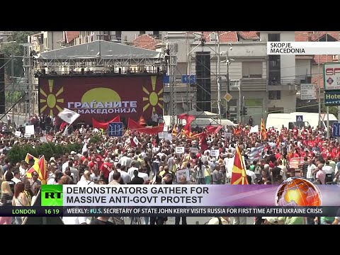 Thousands flood Macedonian capital for anti-government rally