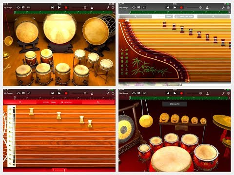 GARAGEBAND 2.3 for iOS - Let's Play The Chinese & Japanese Instruments & Drums