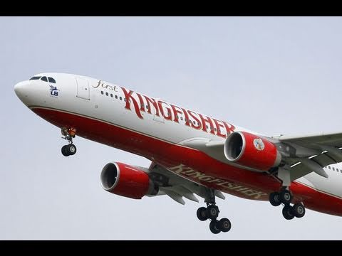 Kingfisher Airlines Airbus A330-200 VT-VJN Landing at IGI Airport DEL