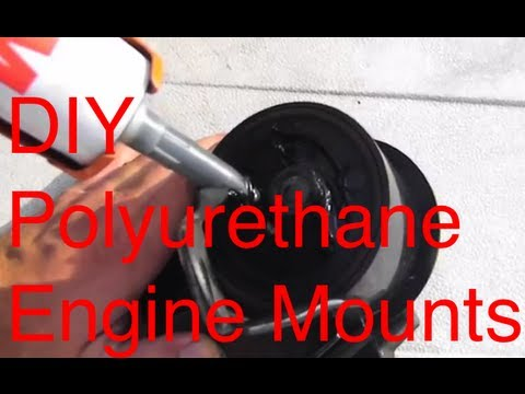 Diy poly urethane motor mounts turbo sentra spec v youtube for How to make polyurethane motor mounts