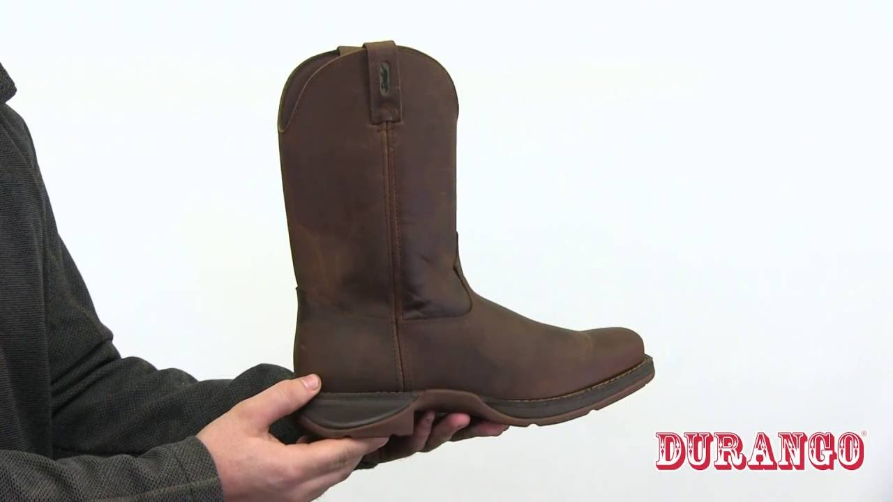67119b2880a Rebel by Durango Brown Pull-On Western Boot Style# - DB5444