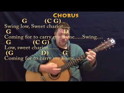 Swing Low, Sweet Chariot (Spiritual) Strum Guitar Cover Lesson in G with Chords/Lyrics