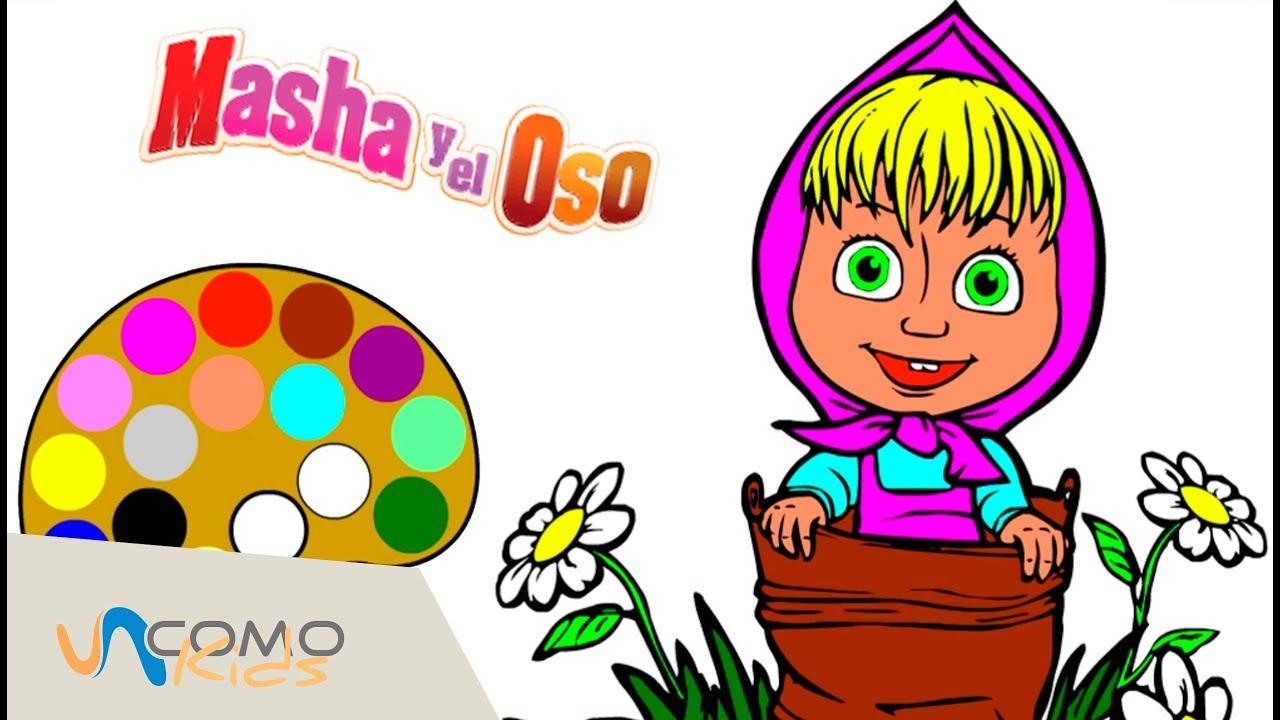 Dibujos Para Colorear De Macha Y El Oso: Dibujo De Masha Y El Oso En Español
