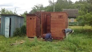 видео Строим деревянный туалет своими руками в короткие сроки