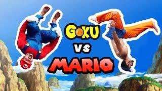 Super Mario VS Goku In Real Life (Dragon Ball, Parkour)