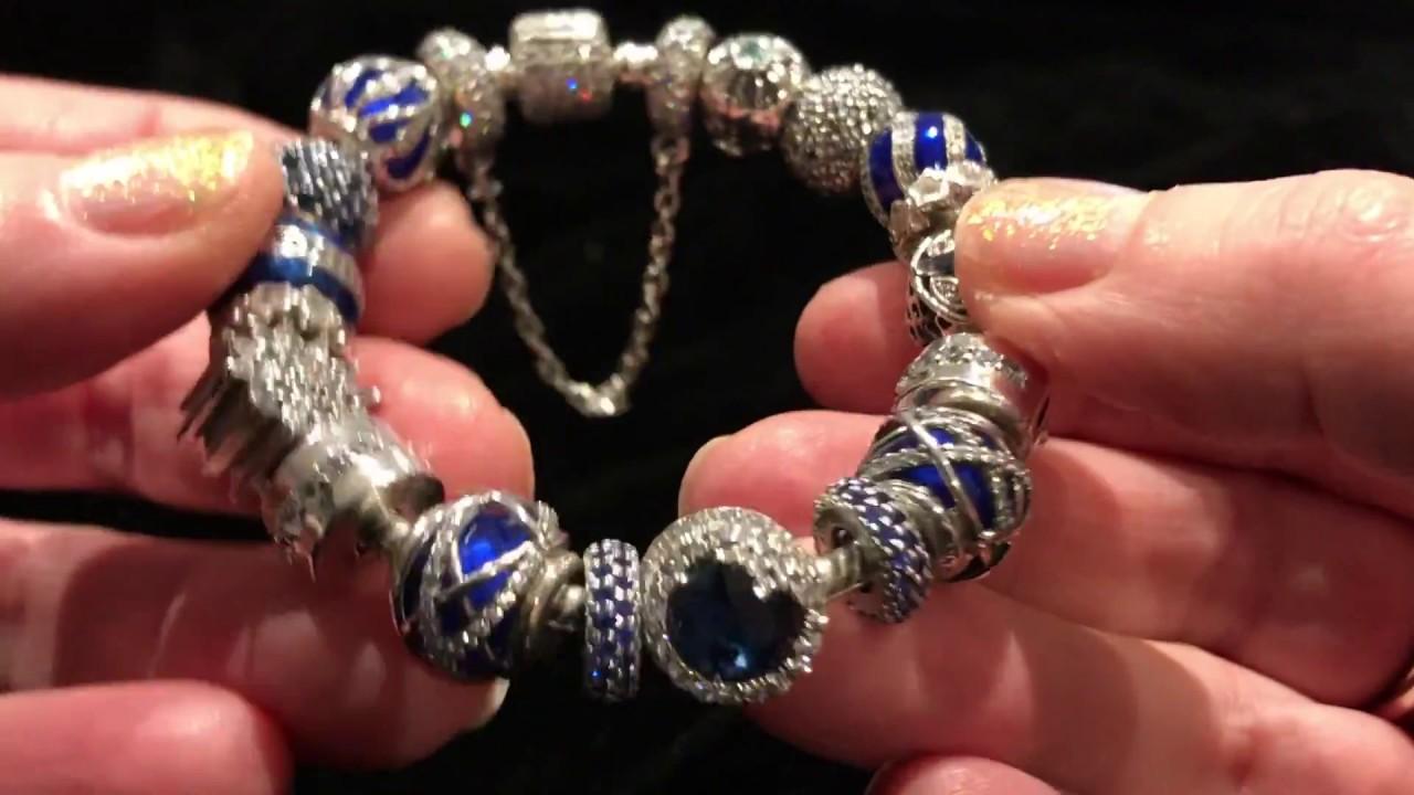 9fe90a51a My Pandora Bracelet: Sparkly Blue - YouTube