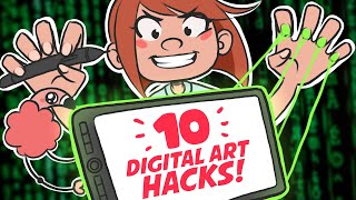 👩‍💻 10 Digital Art Tips (or HACKS) you might not know!