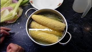 Как правильно сварить кукурузу!!!