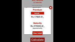 SL Insurance Calculator Overview