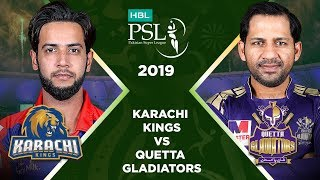 Match 28: Full Match Highlights Karachi Kings vs Quetta Gladiators | HBL PSL 4 | HBL PSL 2019