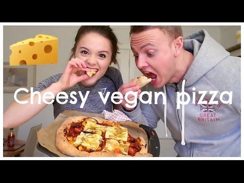 VEGAN CHEESE STUFFED CRUST PIZZA RECIPE OH MY!