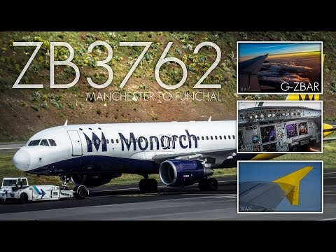 STUNNING ARRIVAL! Monarch Airbus A320-214 | Manchester to Funchal | ZB2762 | Trip Report