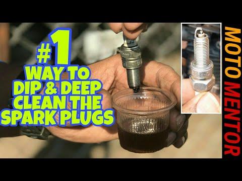 SPARK PLUG DIP DEEP CLEAN METHOD HIGH MILAGE TRICK !!! DIY