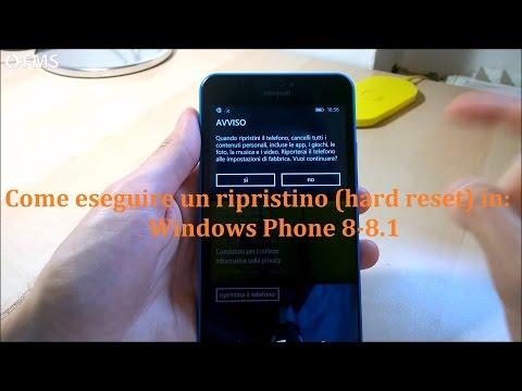 Come fare ripristino o hard reset su Windows Phone
