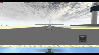 Roblox Military Flight Simulator Flying a Cessna 172 Skyhawk