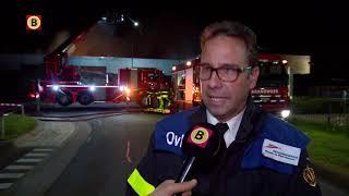 Brand blussen in Dongen gaat nog uren of zelfs dagen duren, zegt Veiligheidsregio