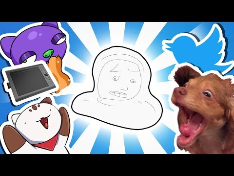 Drawing Random Images From Twitter in 10 SECONDS (ft. Gaomon M106K Tablet Review!) [Art Challenge]