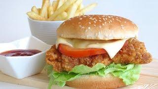 Zinger Burger || ബർഗർ || बर्गर || Recipe : 47