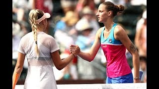 2018 Indian Wells Fourth Round | Amanda Anisimova vs. Karolina Pliskova | WTA Highlights