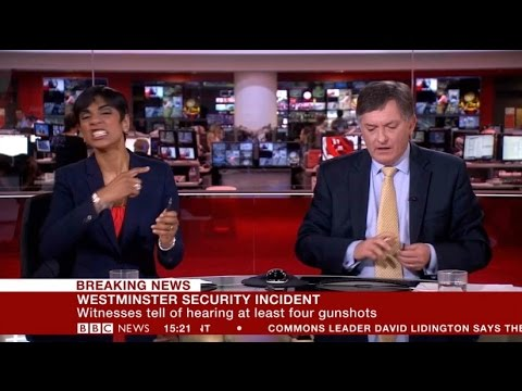 BBC News presenter annoyed by wrong VT - Westminster terror attack