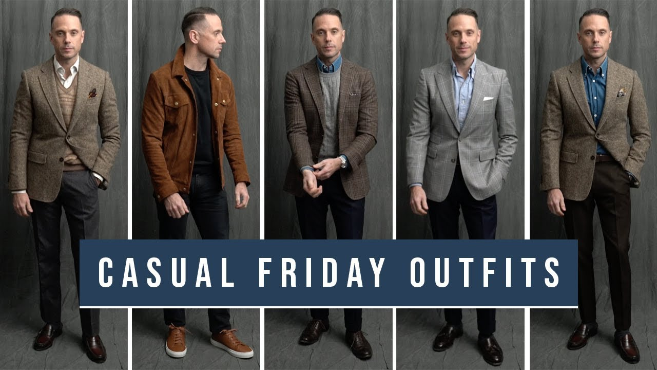 [VIDEO] - 5 Casual Friday Outfits | Business Casual Men's Winter Fashion 1