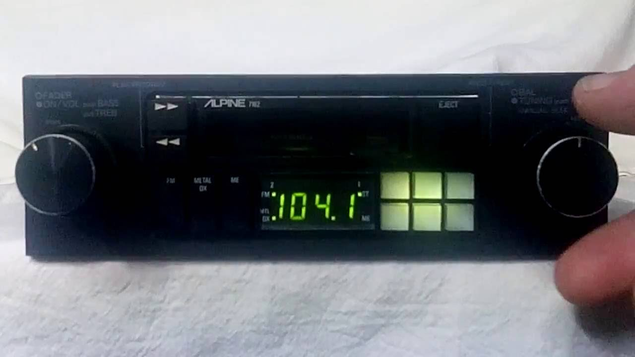 hight resolution of vintage alpine 7162 am fm cassette car stereo youtube7269 alpine radio wiring diagram 10