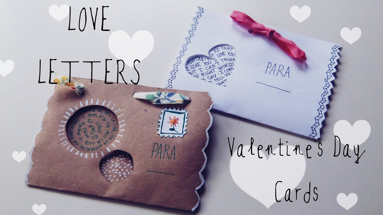 How to make cute envelopes  DIY gifts for boyfriend Easy  YouTube
