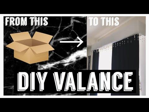 Glam Window Treatment from a Cardboard Box?! | DIY Valence | Home Decor