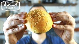 Булочки для бургеров без яиц   Мягкие, пышные и веганские