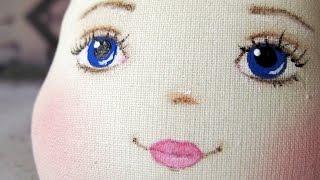 Как нарисовать лицо текстильной кукле.(У многих новичков в пошиве кукол ручной работы часто возникает вопрос, как рисовать лицо текстильной кукле...., 2016-07-21T05:30:01.000Z)