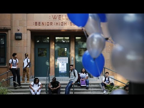 Wells High School Honor Students Arrive on First Day of School