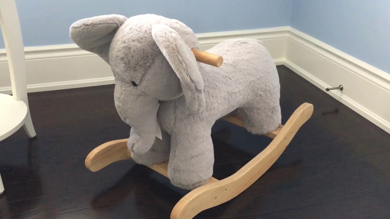 03170653eec9 Nursery Elephant Plush Rocker - Pottery Barn - YouTube