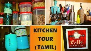 KITCHEN TOUR IN TAMIL    NON MODULAR KITCHEN ORGANIZATION