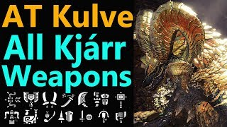 MHW: AT kulve All Kjarr Weapons Showcase | Iridescence Rewards