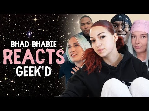 "BHAD BHABIE Reacts to ""Geek'd"" Music Video Reactions -  