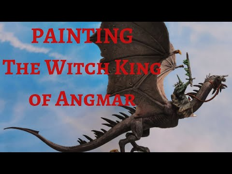 Painting - The Witch King of Angmar on Fell Beast