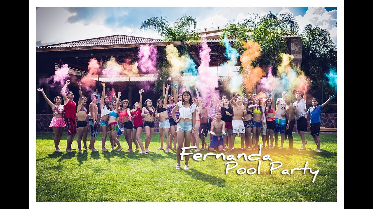 Imagenes De 15 Anos: Pool Party Fernanda XV Session Clip Sesion De Fotos Quince