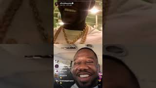 Boosie Bad Azz on ig live with Qc P saying people hating on him for showing love