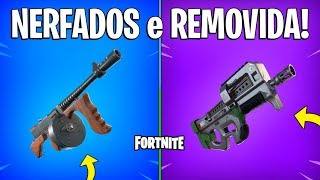 FORTNITE-DRUM MACHINE GUN y HAMSTER BALL NERFADOS, SMG COMPACT REMOVED! -Patch 9.01