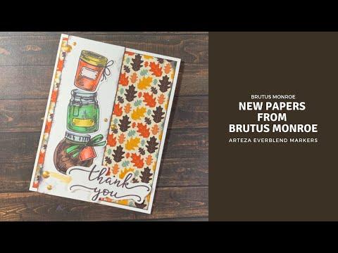 Brutus Monroe Blog Hop - New Patterned Papers | Jars Of Love | Arteza EverBlend Markers