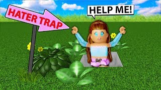 I Built A TRAP For My HATER In Bloxburg! (Roblox)